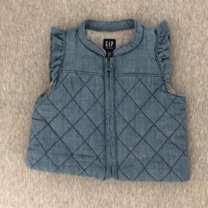 Gap chambray quilted vest 12/18m